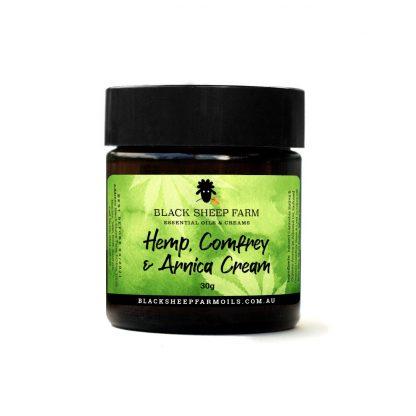 Hemp cream with comfrey arnica