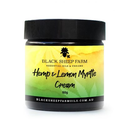 Hemp (CBD) cream, cannabis sativa, infused in lemon myrtle