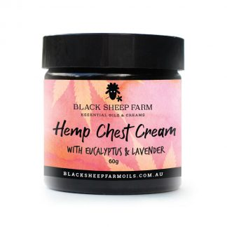 Hemp (CBD) chest cream with cannabis sativa